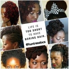 """Life is too short for boring hair."" Like and share if you agree :-) #naturalhair #sisterlocks #locs #dreadlocks #naturalhairinspiration"