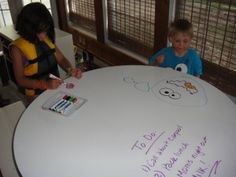 Dry-erase paint for a table? Yes, please!