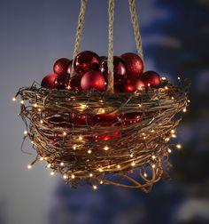 Hanging Grapevine Basket