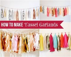 How to Make Tissue Paper Tassel Garlands #diy