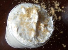 luscious whipped body scrub recipe: shea butter, olive & coconut oil, & brown sugar. (could add essential oils.)
