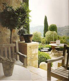 a tuscan garden