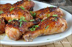 Honey-Soy Chicken Drumsticks | Very Culinary