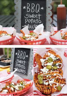 ... your Labor Day Party with this BBQ Alexia Sweet Potato Nacho Bar