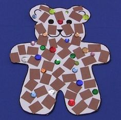 Mosaic Teddy Bear Craft