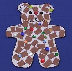 Mosaic Teddy Bear Craft