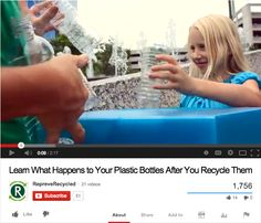 Cool 2 minute video showing how recycled bottles can be used to make lots of new stuff from designer jeans to car seats - great visual for kids. #sponsored