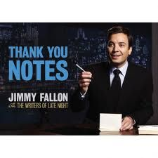 A wonderful writing retreat closer is reading some selected thank you notes from Jimmy Fallon's hilarious book.