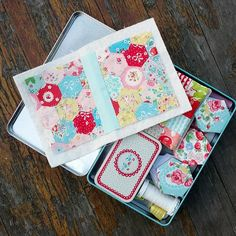 Little hexie needlebook ~ Kylie Three Honeybees on flickr