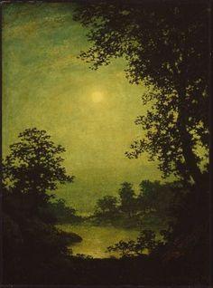Moonlight Sonata / Ralph Albert Blakelock / c. 1889–92  / oil on canvas / MFA Boston