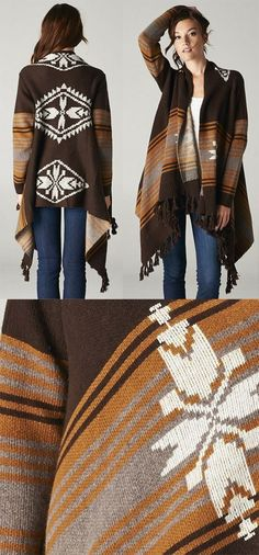 Adorable Southwest Inspired Sweater / Cardigan