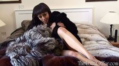 Alyssa Divine is back, this time in a bedroom full of furs complete with a huge black dildo that she is about to slide inside herself, how long will you be able to watch her before you jump on top of her to satisfy your lust???!! see more here - http://www.theloveoffur.com/