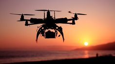 Drone at sunset.