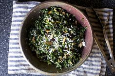kale quinoa salad with ricotta salata by smitten, via Flickr