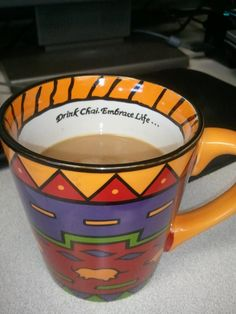 Barb Bovberg posted this pic on our Facebook page - our limited edition chai mug with Big Train's delicious spiced chai inside.