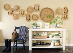 hat wall, diy challeng, challeng reveal