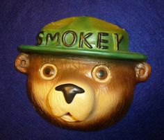 1955 Chalk String Holder Smoky The Bear | eBay