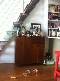 Under the Stairs, Before - Small Space Solutions: Kitchens and Living Rooms on HGTV