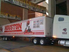 University of Houston Cougars - equipment transporter for away football games