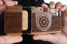 Wood Camera iPhone 4/ iPhone 4S Case by photojojo: $42. #iPhone_Case #Camera_iPhone_Case #photojojo