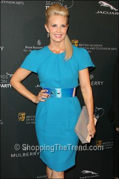 Monica Potter blue dress Roksanda Ilincic BAFTA Tea Party