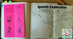 Spanish Explorers Foldable: using this next year!!