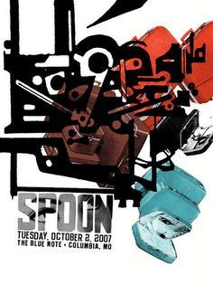 Spoon Concert Poster By Aesthetic Apparatus