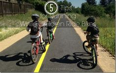 5 tips for running while children ride bikes #fitfluential #sweatpink #parenting