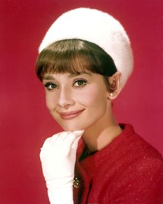 """Audrey, wearing  Givenchy, photographed at the Studio de Boulogne for the publicity of """"Charade"""". Paris; January, 1963."""