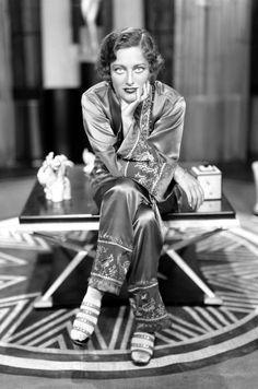 Those pajamas!!!  Deco era Joan Crawford, 1929.