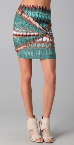 Caden Twist Mini Skirt