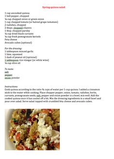 Spring Quinoa Salad