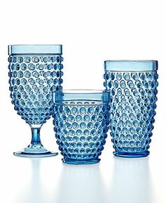 Martha Stewart Collection Blue Acrylic Hobnail Collection - Casual Dinnerware - Dining  Entertaining - Macy's