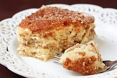 Sour Cream Coffee Cake  http://gimmesomeoven.com/sour-cream-coffee-cake/