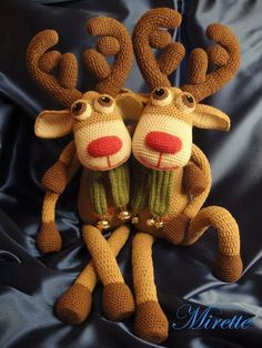 Crocheting: Rudolf deer and his brother