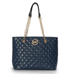 Michael Kors Outlet Quilted Large Navy Shoulder Bags Only $69.99 For SaleIm in love! Repin this!