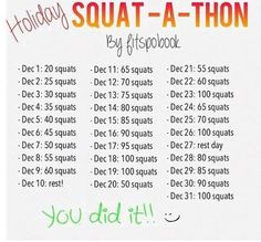 December Fitness Challenge: Squat-A-Thon-