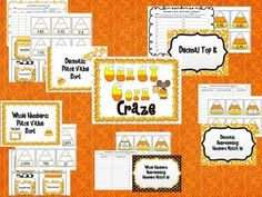 5 Place Value Activities with a Candy Corn Theme! 4th-5th Grade. Fun!