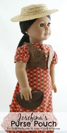 Doll Craft-Josefina's Purse Pouch — Doll Diaries