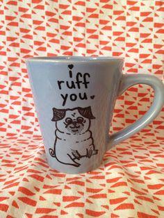 Pug Mug! by ThisNThatbyAli on Etsy, $12.00