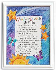 TEN COMMANDMENTS FOR KIDS.