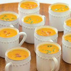 Sweet-Potato Soup with Prosciutto Crisps | MyRecipes.com