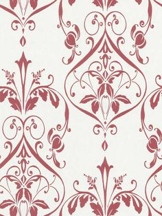 Nouveau Damask Wallpaper by Brewster. Find this pattern at AmericanBlinds.com.