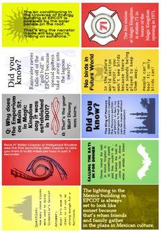 Disney trivia lunchbox notes (batch #1)