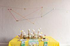 technicolor geometric wedding ideas via Ruffled Blog