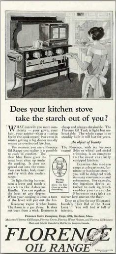 Florence Oil Range Collectible (1924)