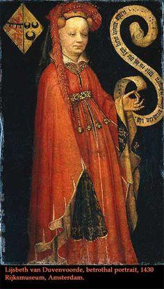 Lijsbeth van Duvenvoorde, betrothal portrait, 1430.