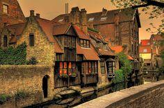 Ancient House, Bruges, Belgium