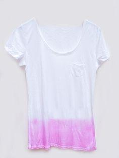 DIY dye tshirt