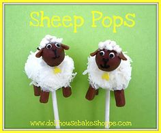Marshmallow Sheep Pops..Cute!